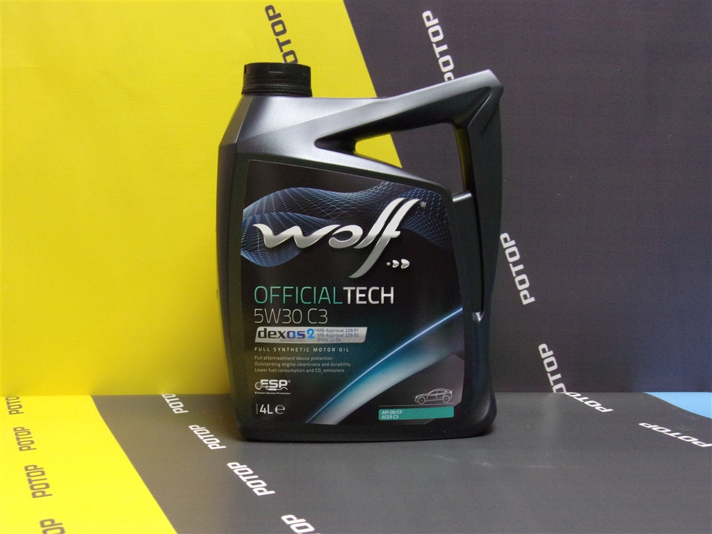 Масло моторное WOLF OFFICIALTECH C3 5W30 4 л